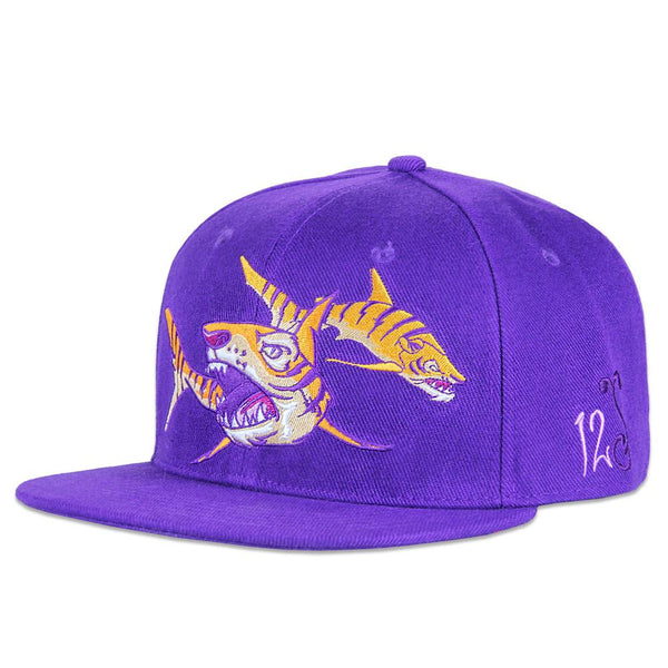 Sam Flores Tiger Shark Purple Snapback - Grassroots California - 1