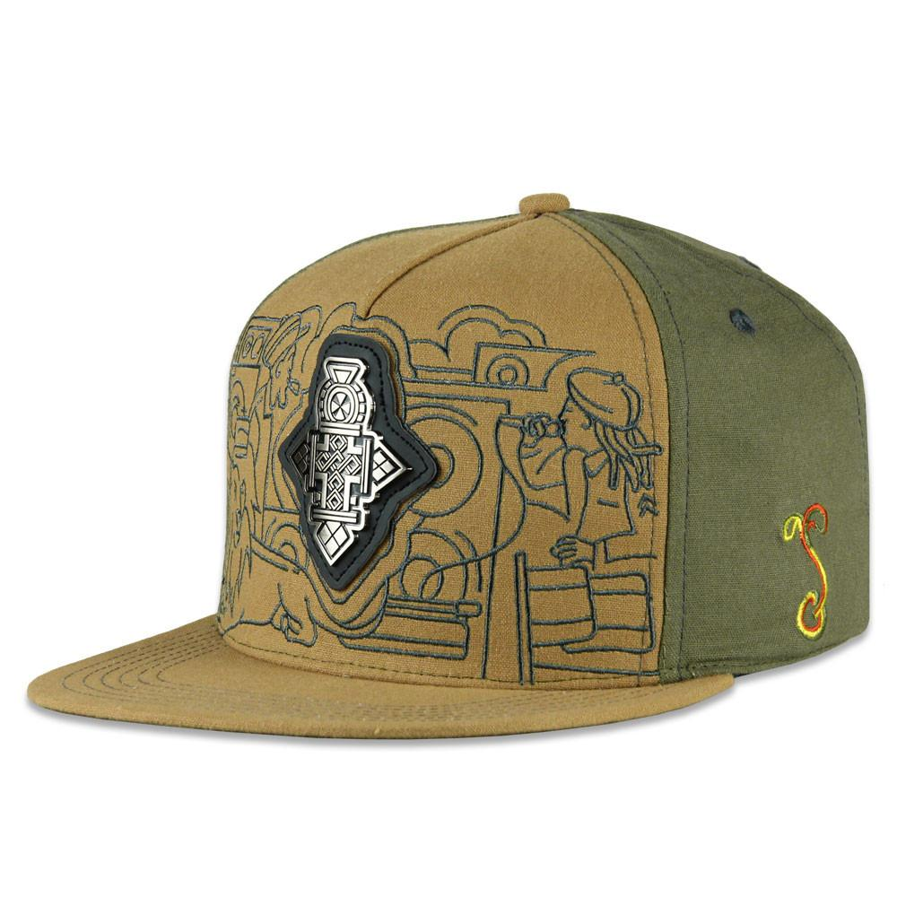 Rastaroots Cross Brown Snapback