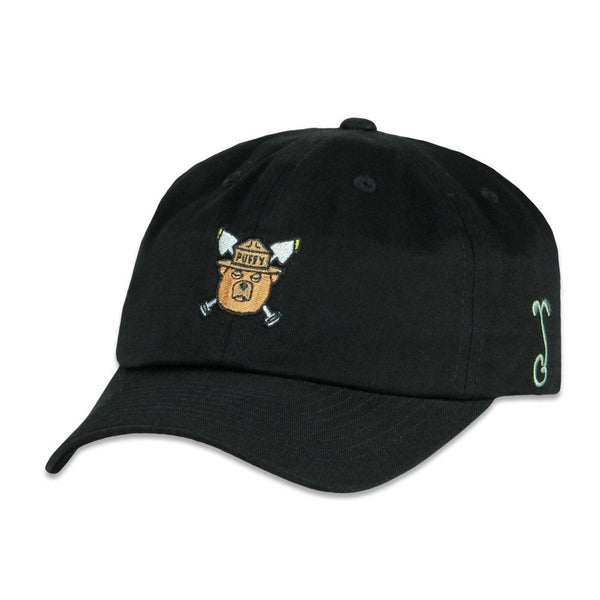 Puffy The Bear Black Dad Hat