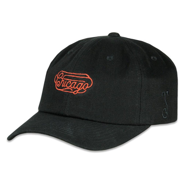Chicago Dog Denim Script Dad Hat
