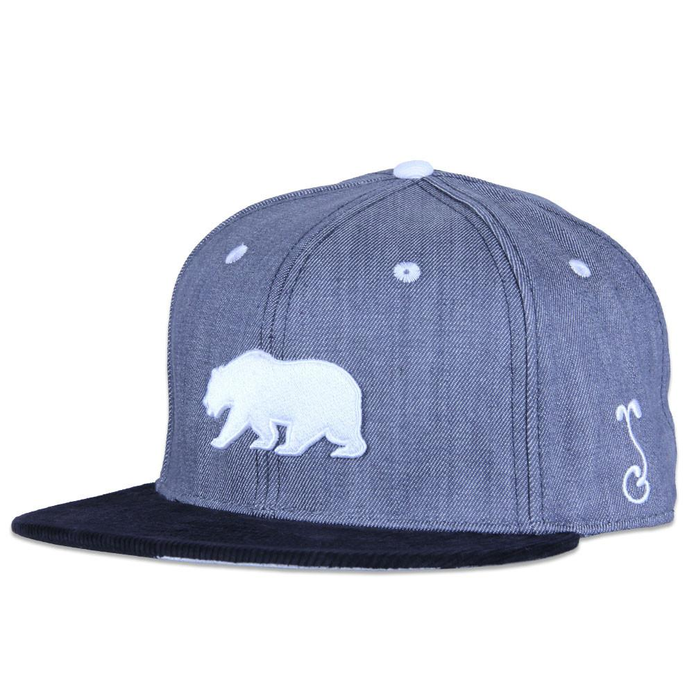 Polar Bear Gray Denim Snapback