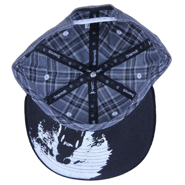 Polar Bear Gray Denim Snapback - Grassroots California - 2