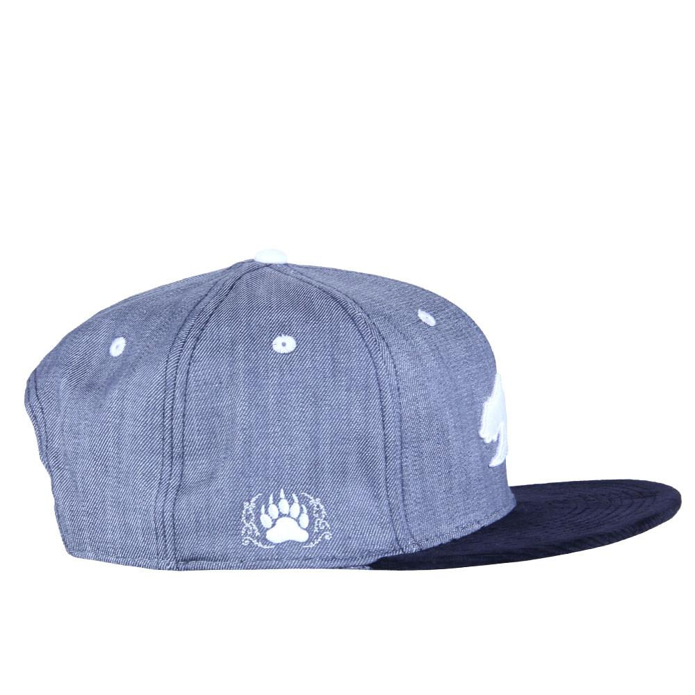 Polar Bear Gray Denim Snapback - Grassroots California - 4