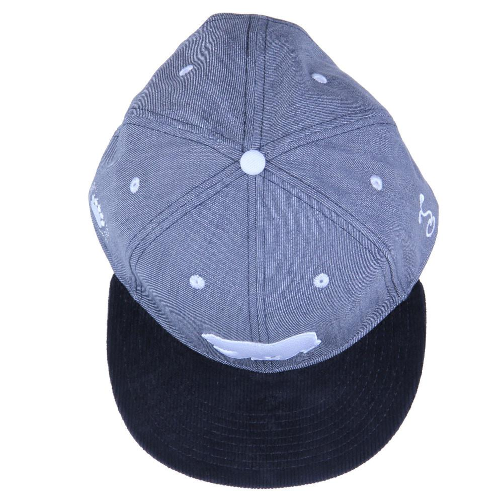 Polar Bear Gray Denim Snapback - Grassroots California - 5
