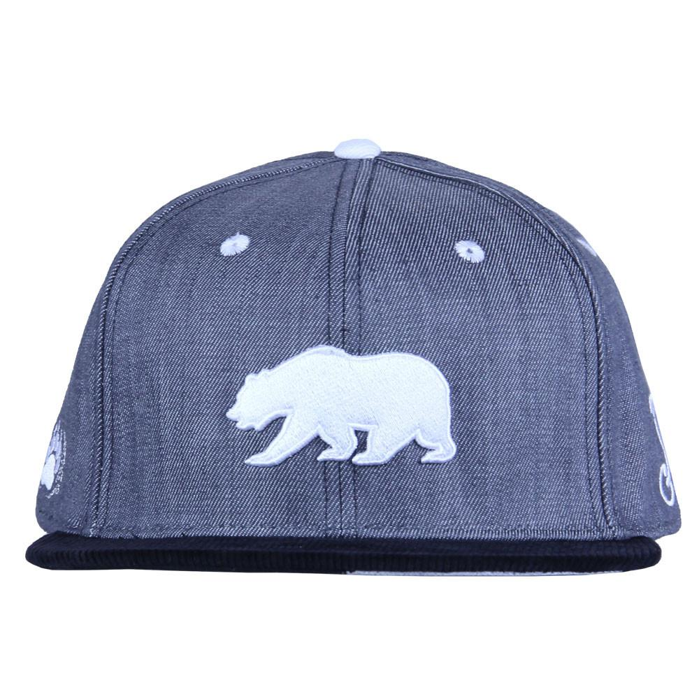 Polar Bear Gray Denim Snapback - Grassroots California - 6