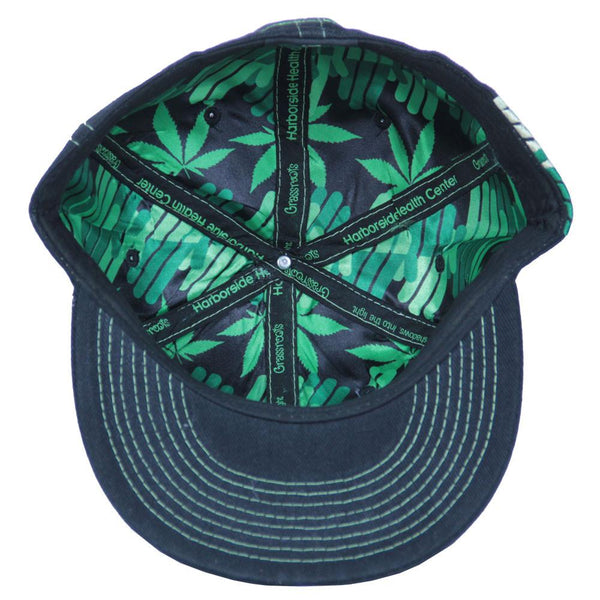 Harborside V3 Black Fitted - Grassroots California - 2