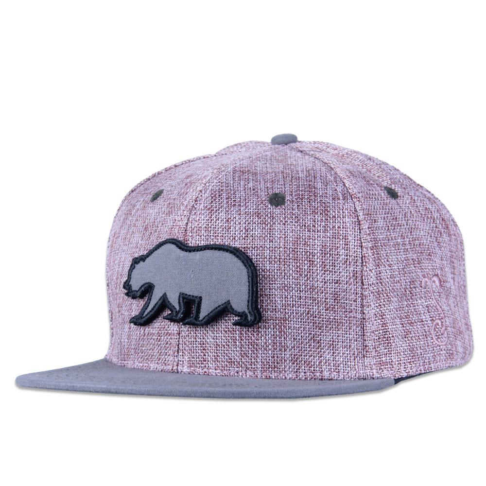 Removable Bear Pink Hemp Snapback