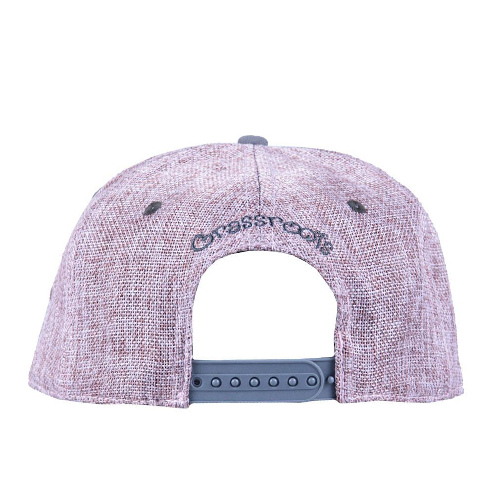 Removable Bear Pink Hemp Snapback - Grassroots California - 4