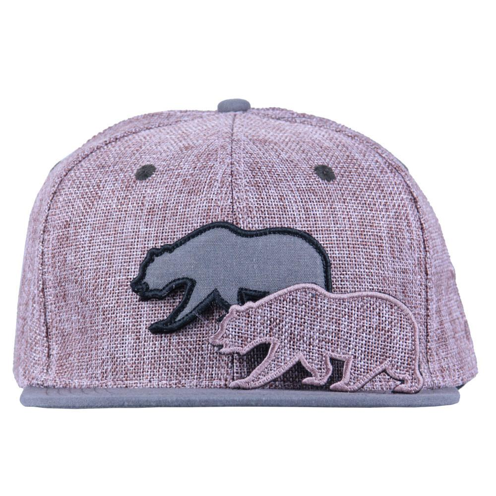 Removable Bear Pink Hemp Snapback - Grassroots California - 2