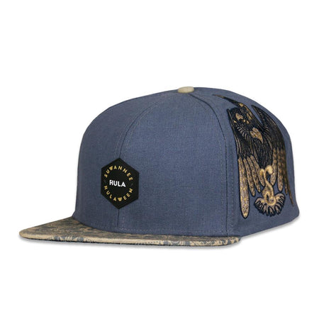 Snowboard Bear Navy Corduroy Fitted Hat