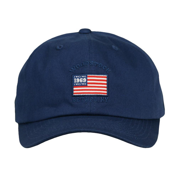 Woodstock Flag Navy Dad Hat