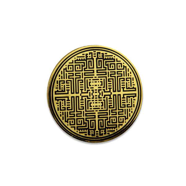 Kris D Labyrinth Gold Pin