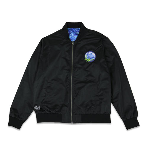 Stanley Mouse Blue Rose Reversible Bomber Jacket