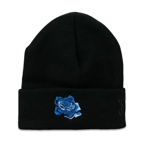 Stanley Mouse Blue Rose Black Beanie