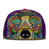 Amanda Vela Bear Purple Fitted Hat