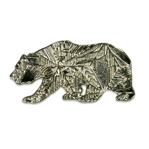 Slice Of Life Silver Grizzly Bear Pin