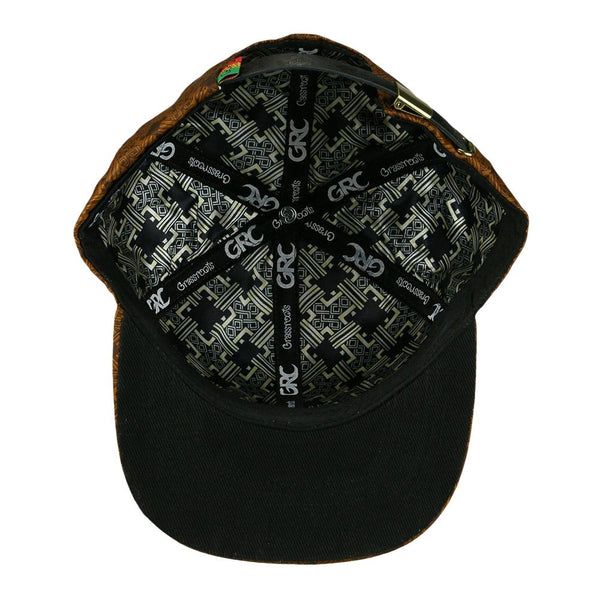 Rastaroots Cross Brown Strapback Hat