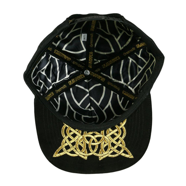 Celtic Bear Black Snapback Hat