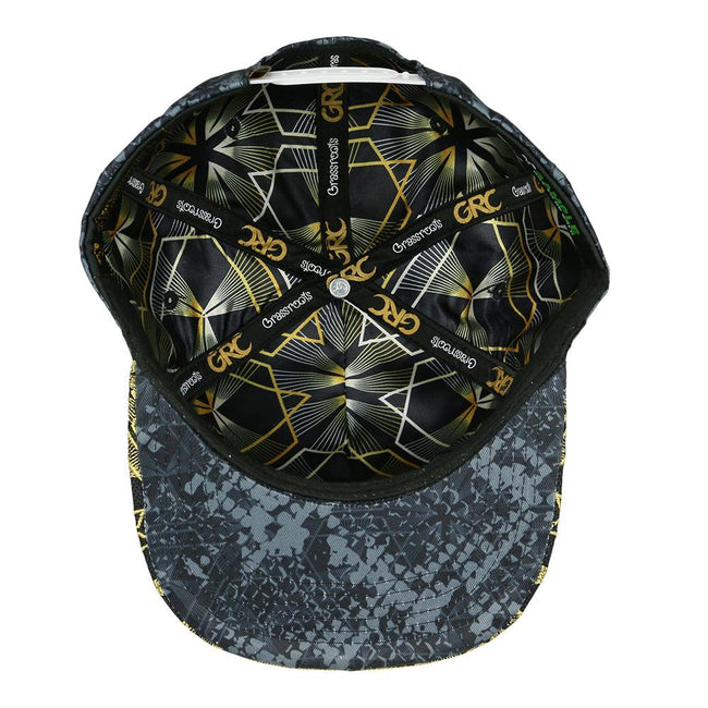 Celestial Serpent Black Snapback Hat
