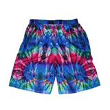 Tech Tie Dye Blue Mesh Shorts