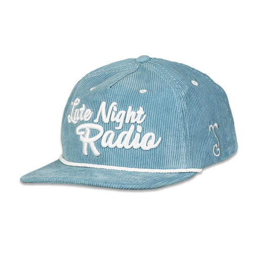 Late Night Radio Teal Corduroy Zipperback Hat