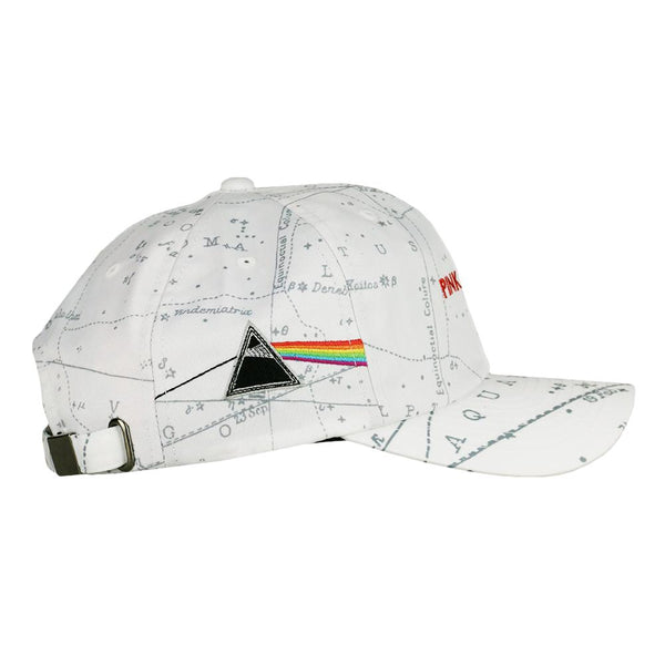 Pink Floyd Dark Side of the Moon White Dad Hat