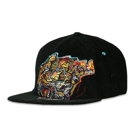 Removable Bear Tech Tie Dye Rainbow Fitted Hat
