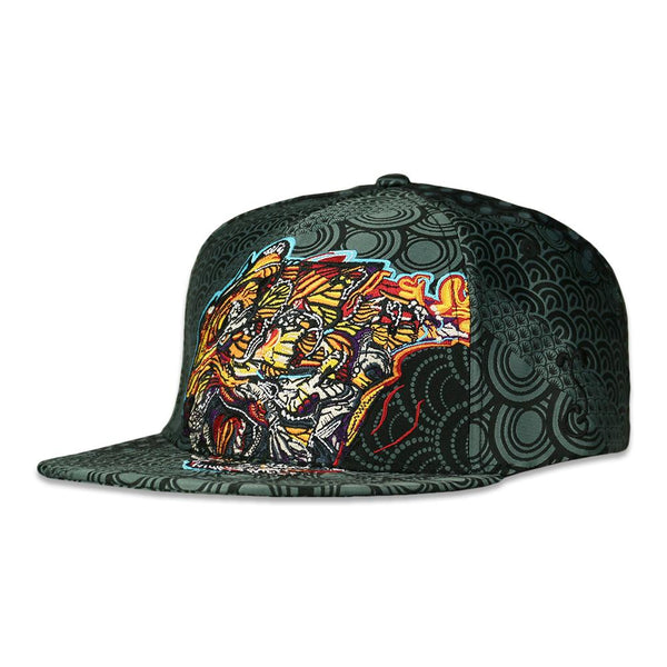 Android Jones Tiger Swallowtail Black Woven Snapback Hat