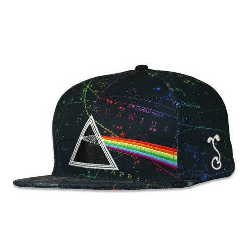 Pink Floyd Dark Side of the Moon Black Snapback Hat