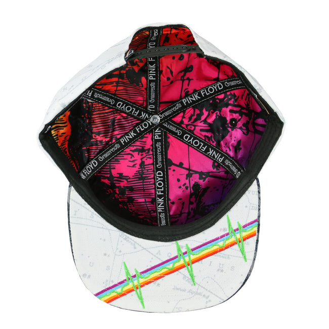 Pink Floyd Dark Side of the Moon White Snapback Hat