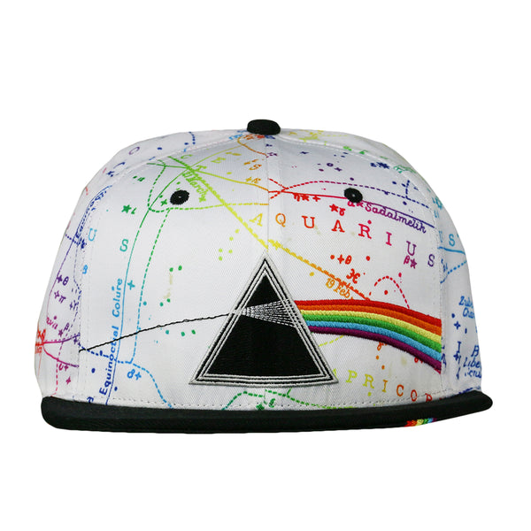 Pink Floyd Dark Side of the Moon White Fitted Hat