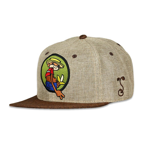 Johnny Chimpo Tan Hemp Fitted Hat