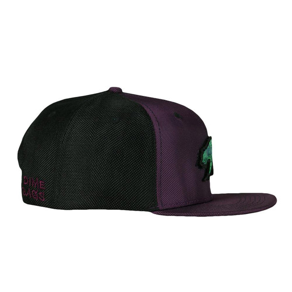 Dime Bags x GRC Removable Bear Purple Snapback Hat & Fanny Pack Bundle