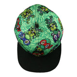 Vincent Gordon Removable Turtles Green Fitted Hat