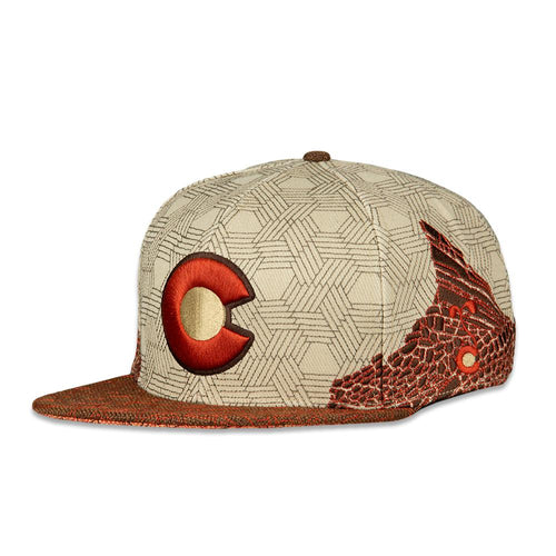 Red Rocks Tan Snapback Hat