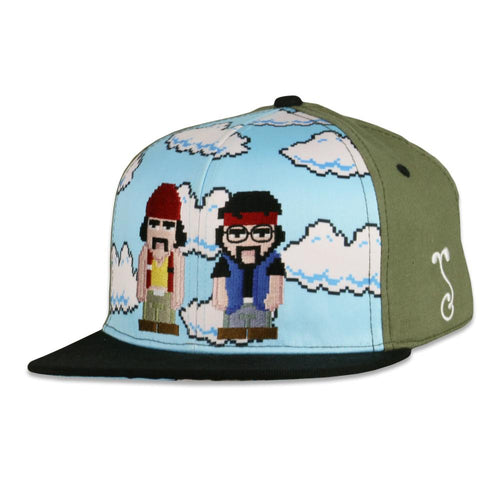 Cheech and Chong Super Bario Bros Green Snapback Hat