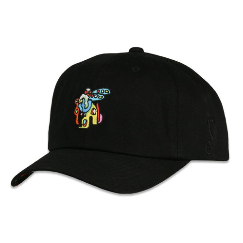 Jerry Garcia Space Container Bird Black Dad Hat