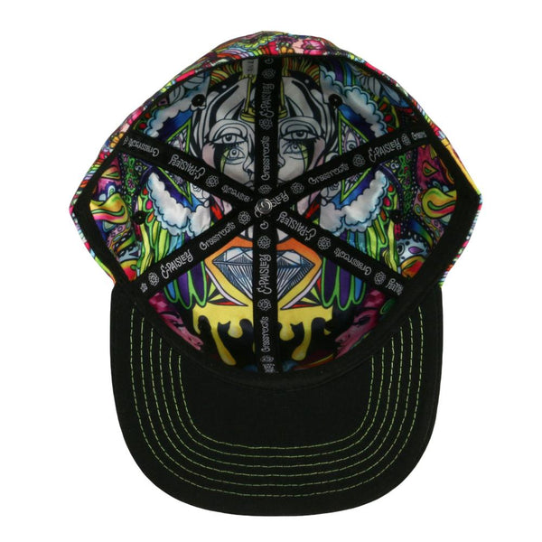 Ellie Paisley Oil Spill Fitted Hat
