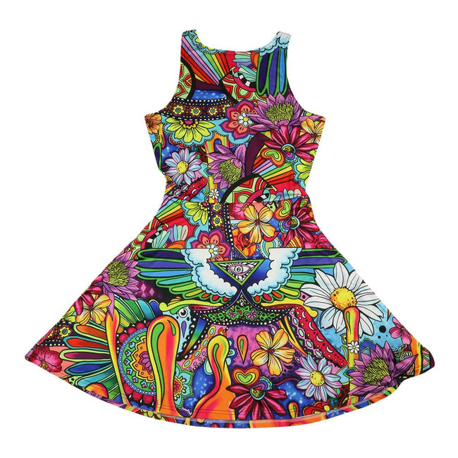 Ellie Paisley Oil Spill Dress