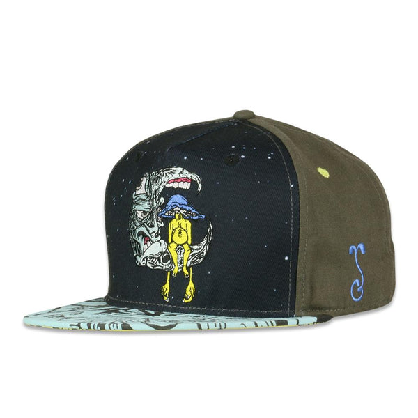 Aaron Brooks Lunar Meets Fungus Blue Fitted Hat