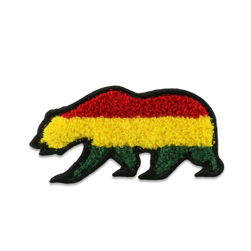 Rasta Chenille Removable Bear Patch