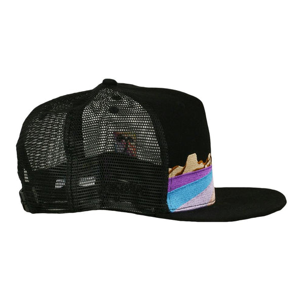 Jerry Garcia Playa Vista Black Mesh Snapback Hat