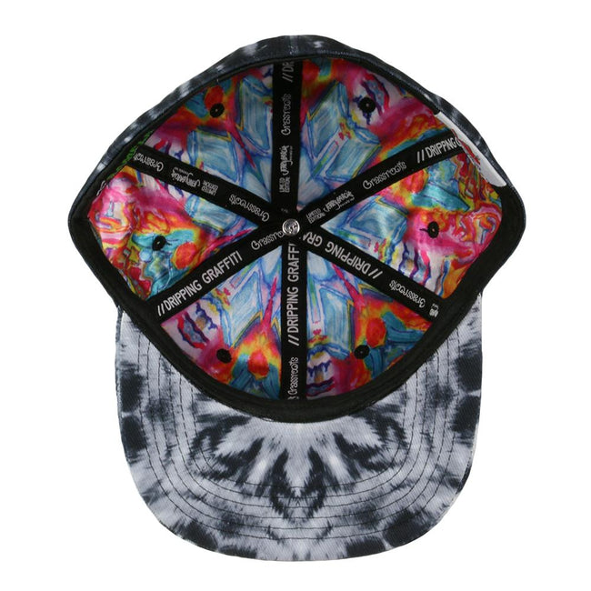 Jerry Garcia Black Watercolor Mandala Fitted Hat