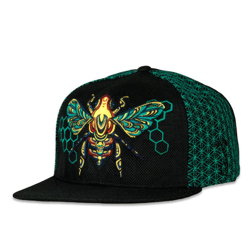 Honey Fund Bee Teal Snapback Hat