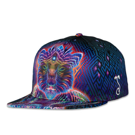 Mayan Smile Gray Corduroy Fitted Hat