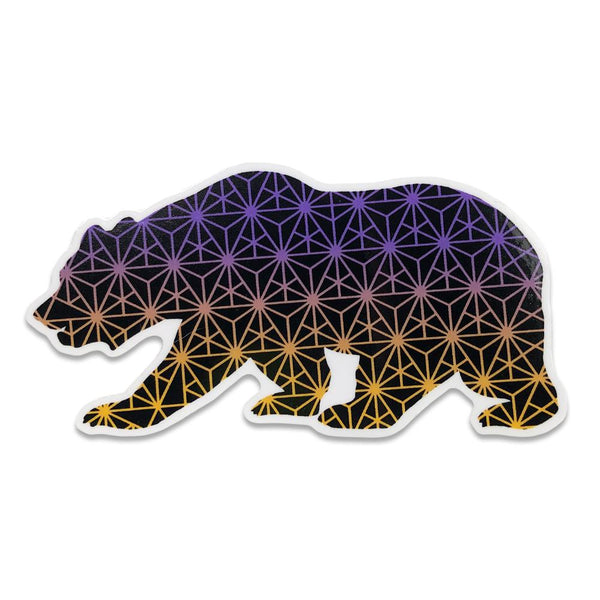 Geo Triangles Fade Bear Sticker