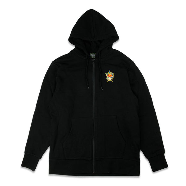 Stanley Mouse Dead Star Black Zip Up Hoodie