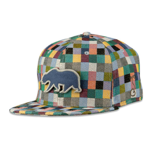 Removable Bear Pastel Patchwork Fitted Hat