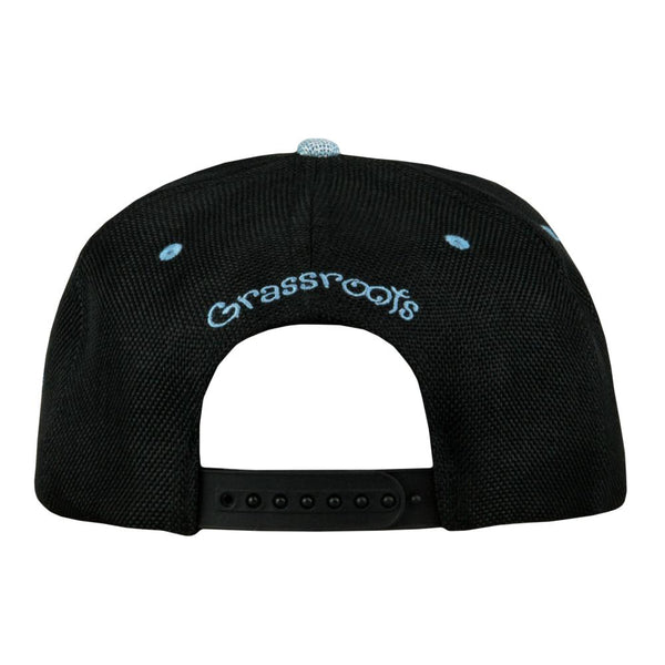 Removable Bear Snowboard Black Snapback Hat