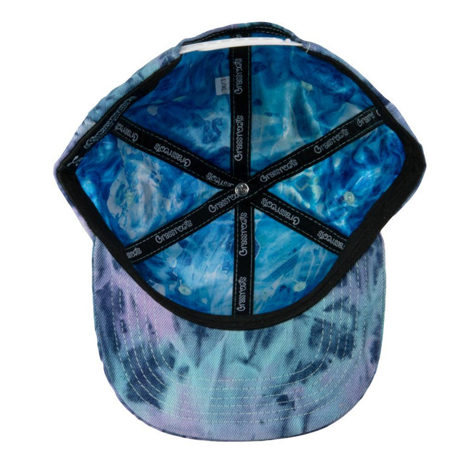 Removable Bear Tie Dye Denim Snapback Hat